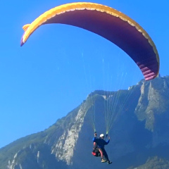 Paragliding in the Pyrenees.